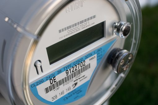 A residential electricity meter