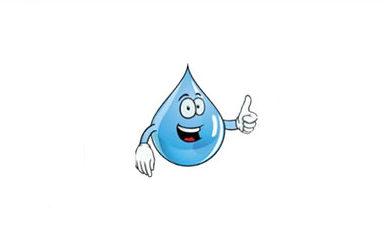 smiling water drop illustration